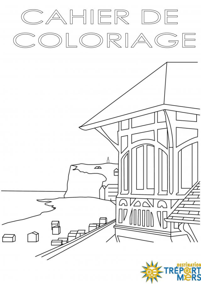 Cahier De Coloriages Destination Le Treport Mers