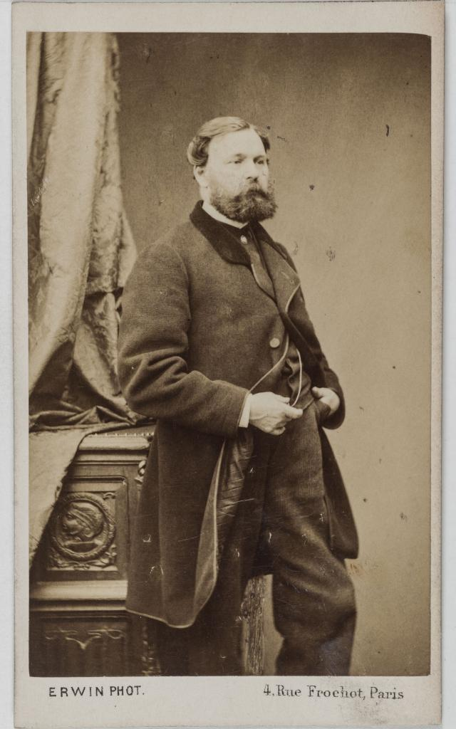 Erwin Hanfstaengl. Portrait de Jules Noël (1815-1881), peintre. Carte de visite (recto). Tirage sur papier albuminé. 1860-1890. Paris, musée Carnavalet.