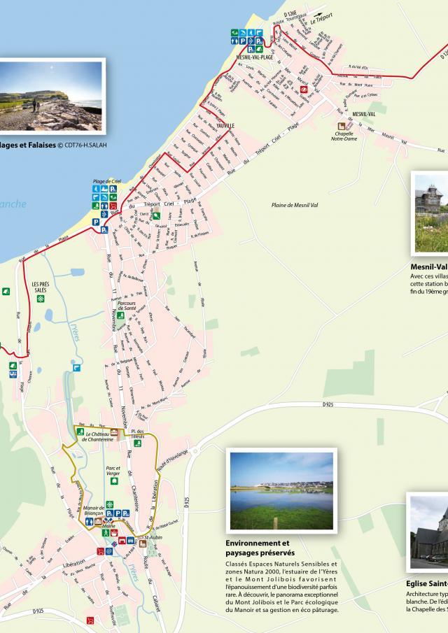 Plan Ville Criel Sur Mer 76910