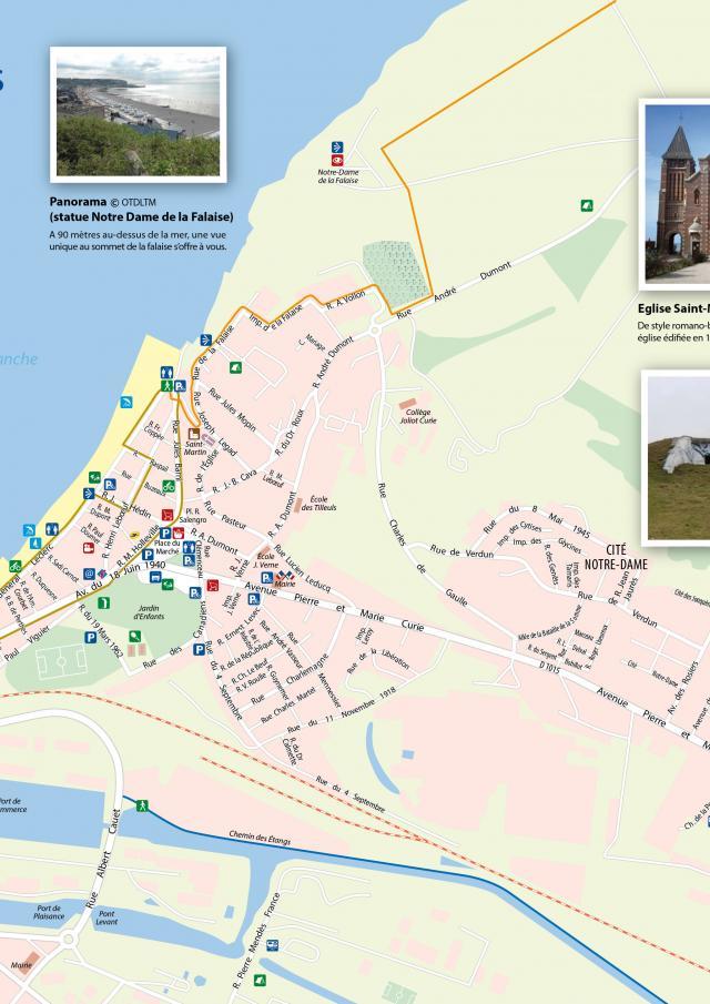 Plan Ville Mers Les Bains 80350
